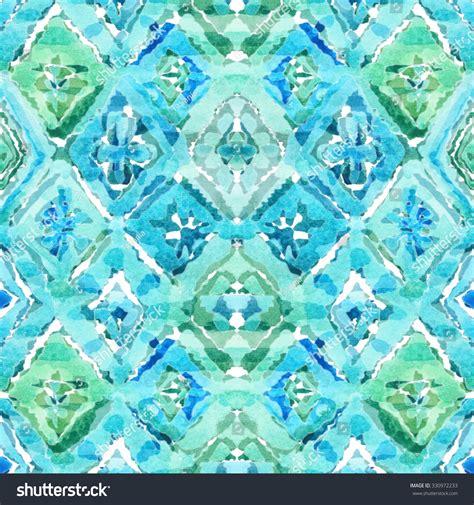 watercolor ikat pattern watercolor seamless geometric ikat pattern vibrant stock