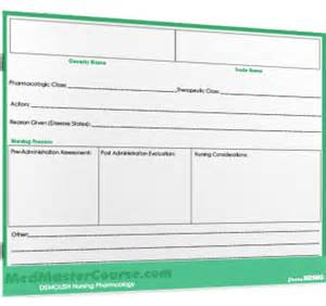 medication card template card template nrsng