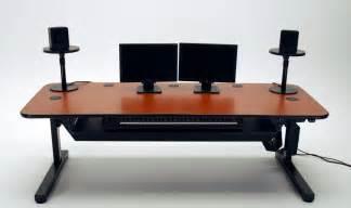 Computer Desk Slide Out Keyboard Tray Ergo Music Height Adjustable Music Production Desk