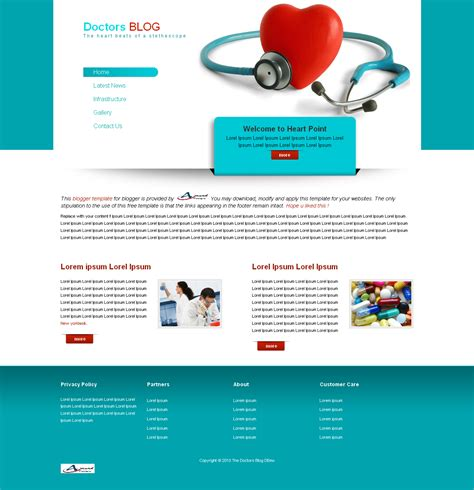 the doctors blog free blogger template