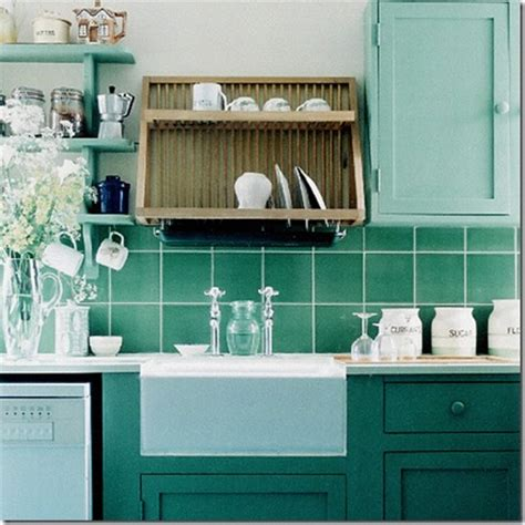 Seafoam Green Kitchen by Stylish Home Colourful Kitchen Inspiration