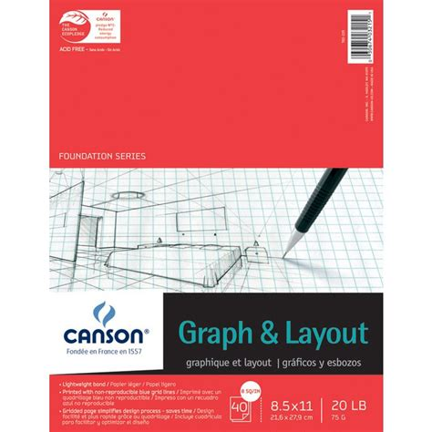 canson sketchbook 8 5 x 11 canson 8 5 quot x 11 quot foundation series 8x8 graph and layout
