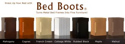 Covers For Bed Frame Legs Bed Boots 174 Dress Up Your Bed Metal Bed Frame Leg Covers