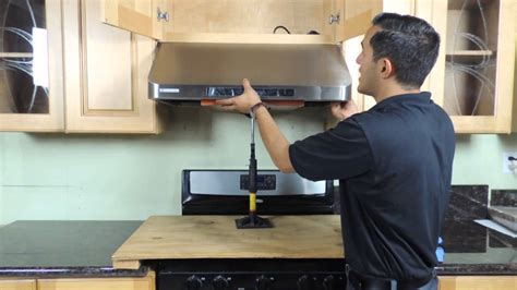 How To Clean Greasy Kitchen Cabinets under cabinet range hood installation new version youtube