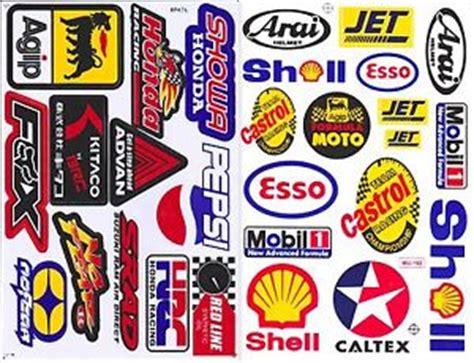Sticker Motor Mobil Dinding 2sh castrol mobil 1 agip hrc racing sticker die cut vinyl auto motor sport ebay
