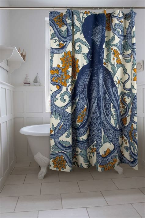 Unique Fabric Shower Curtains Vineyard Octopus Shower Curtain Vineyard I Am And This