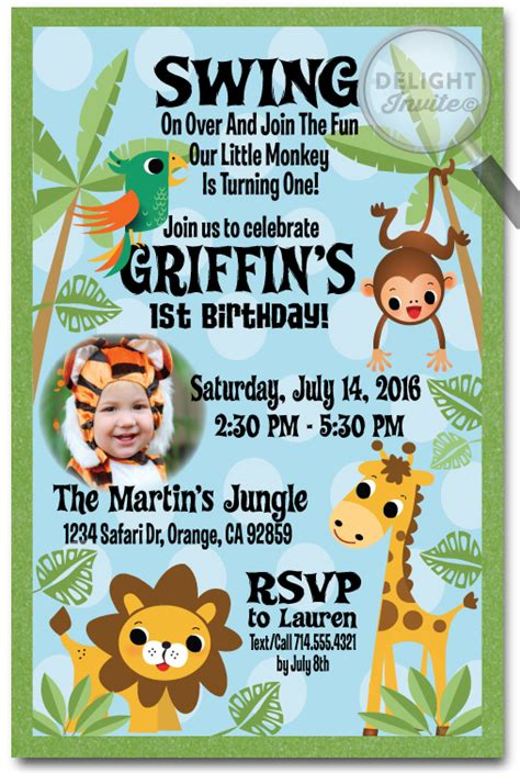 17 Safari Birthday Invitations Design Templates Free Printable Birthday Party Invitations Jungle Animal Invitation Templates