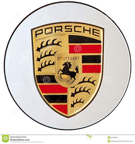 stuttgart porsche logo porsche logo editorial photo image of motorcar racer