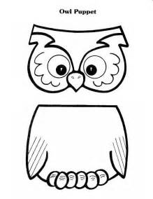 Paper Bag Puppet Template by One Librarian December 2013
