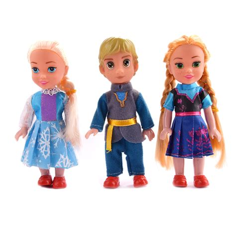 Promo Elsa Set 3in1 3pcs set elsa doll and kristoff doll for children the snow collection