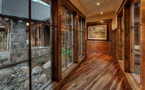 Walnut Hardwood flooring for Martis Camp residence   Nor