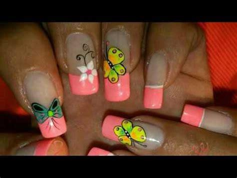 imagenes de uñas con flores lindas decoraciones de u 241 as lindas con mariposas y flores youtube