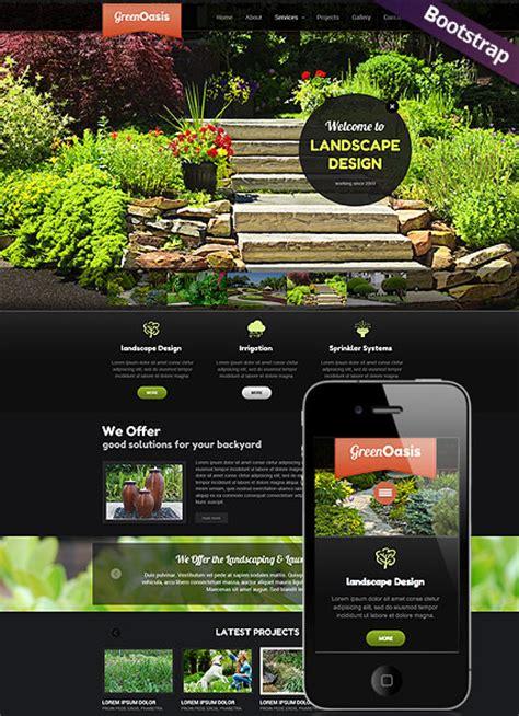 landscape design website templates landscape design flash website