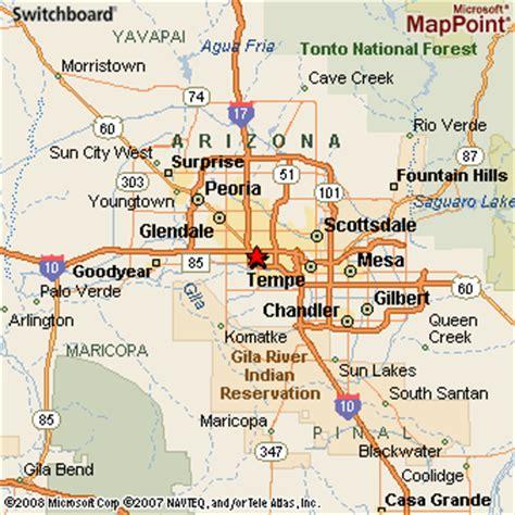 map of arizona and surrounding areas arizona