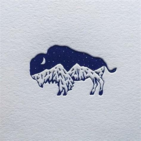 designspiration blue my bison mountain logo design design daniel o connell