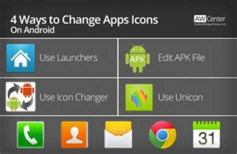 android change app name 4 ways to change apps icons on android without root aw center