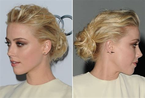 do it yourself hairstyles at home amber heard s teased and tousled updo do it yourself