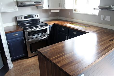 our walnut countertops sanded sealed and finished chris loves julia