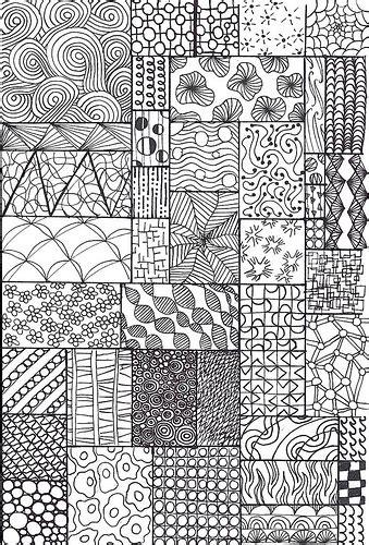 pattern fill drawing zentangle sler flickr photo sharing