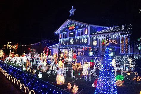 video and map christmas light displays in surrey and