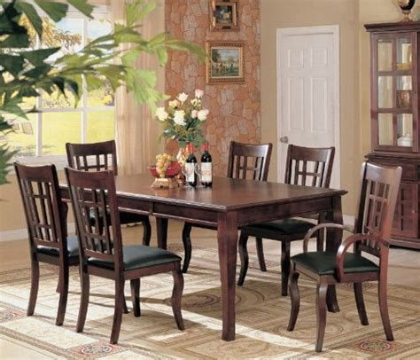 Black Friday Dining Room Table by Black Friday 7pc Formal Dining Table Chairs Set Rich Cherry Finish Luxury Room Decor
