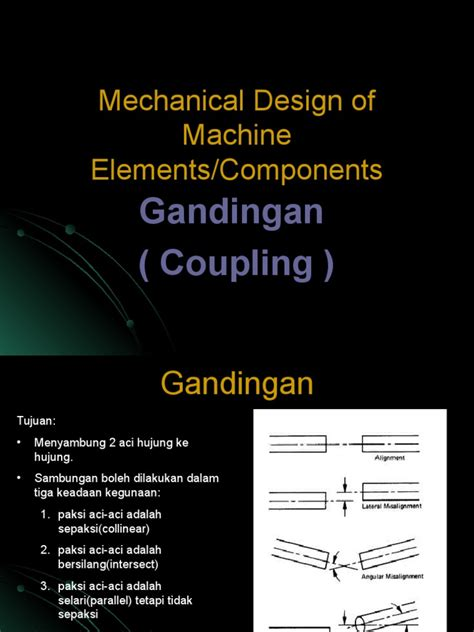 mechanical design adalah mechanical design of machine elements coupling screw