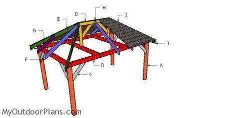 gazebo hip roof plans myoutdoorplans