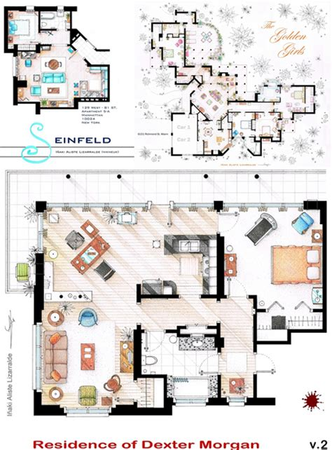 tv house floor plans as seen on tv floor plans from famous television series