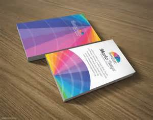 colorful business cards 30 colorful business card design exles for your inspiration