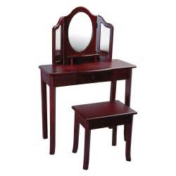 Bedroom Vanity Table And Stool Guidecraft Classic Espresso Vanity And Stool Set