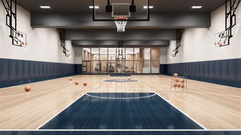 swanky residential basketball courts   time