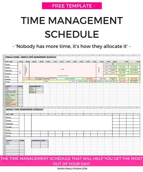 28 free time management worksheets smartsheet