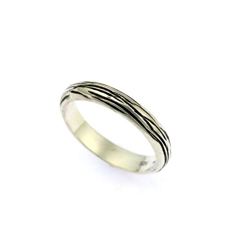 4mm silver 4mm sterling silver bark band ring s brana