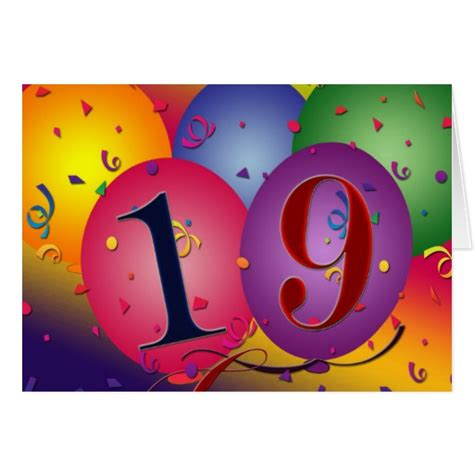 Happy 19th Birthday Wishes Happy 19th Birthday Greeting Card Zazzle