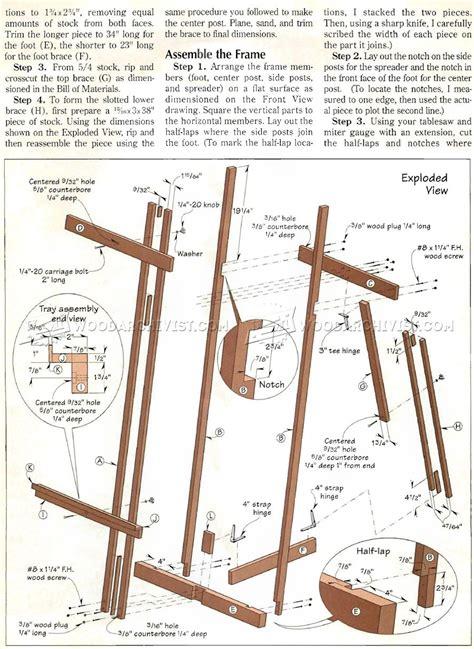 Diy Wood Easel Plans Free