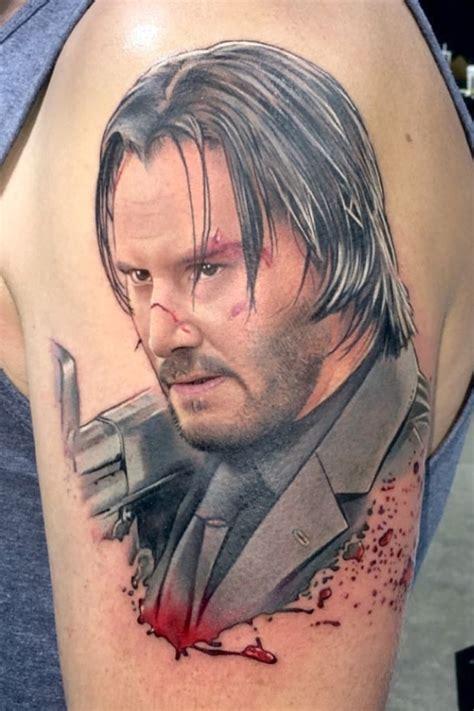 tattoo uploaded  david corden keanu reeves  john