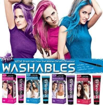 temporary highlights for dark hair that washes out rite aid splat washable hair dye 99