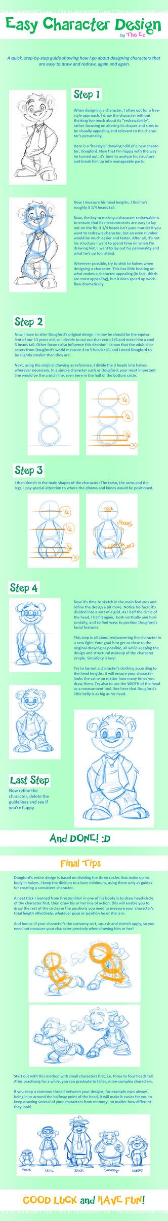 tutorial design character tutorial easy character design by the ez on deviantart