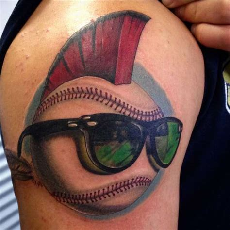 sunglasses tattoo designs funky baseball with hair sunglasses truetattoos