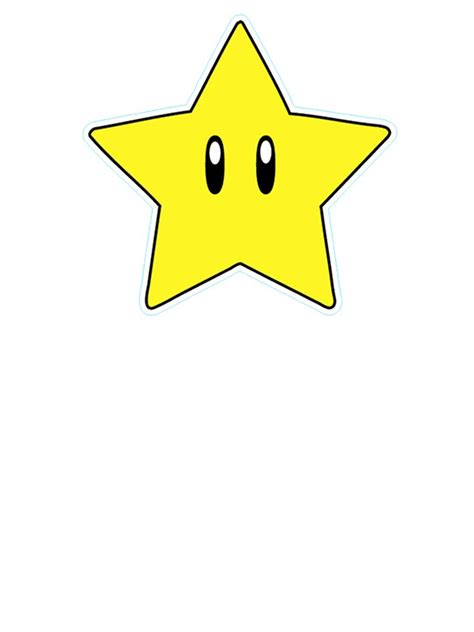 Metal Star Home Decor Quot Super Mario Star Quot Stickers By Danthekash Redbubble