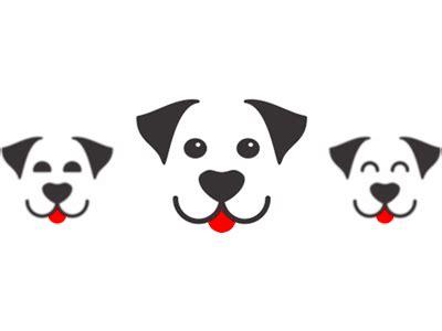 dog smiling happy logo design symbol  alex tass logo