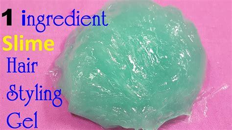 styling gel recipe diy slime hair styling gel 1 ingredient easy youtube
