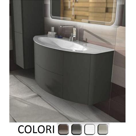 mobil bagno mobile bagno edelweiss cm 120 grigio natura talpa opaco