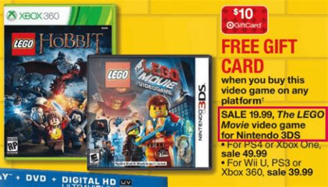 Target Gift Card Discount Coupon Code - target lego game for nintendo 3ds 14 99 after coupon get 10 gift card canadian