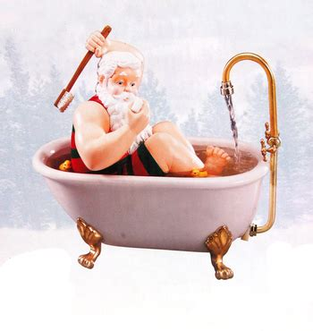 santa in a bathtub new collectible singing santa in ceramic tub musical