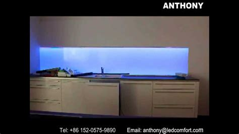 led digital kitchen backsplash led splashbacks illuminated kitchen splashbacks youtube