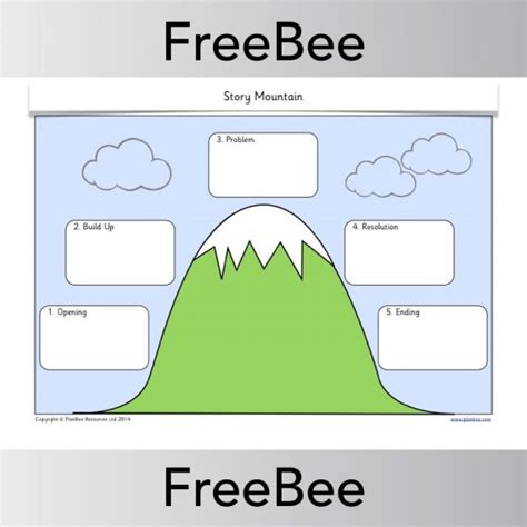 story template ks1 story mountain template planbee freebees