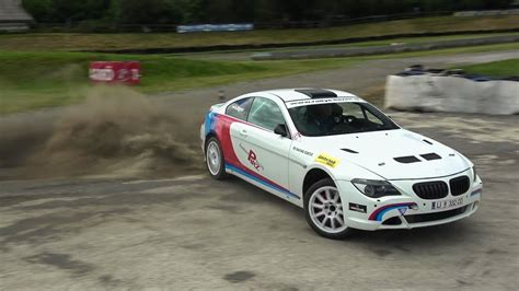 bmw rally car a bmw 650i rally car get muddy
