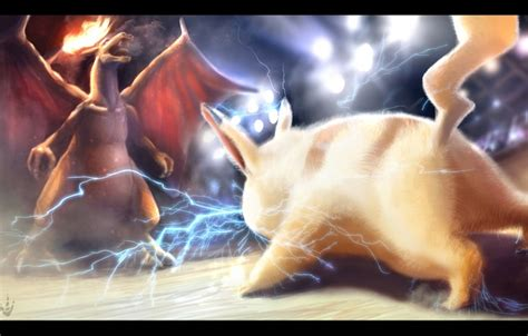 Pikachu And Ash Ketchum For Iphone All Hp Wallpaper Charizard Charizard Pikachu Electricity