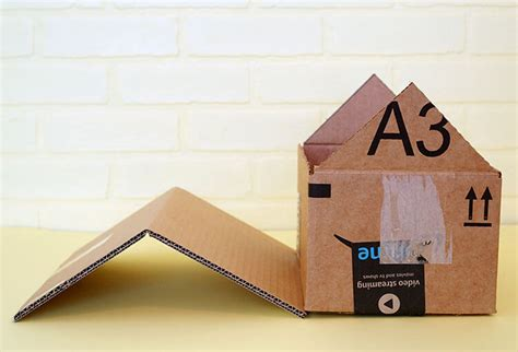 How To Make A Paper House Step By Step - diy cardboard cat house happiness is